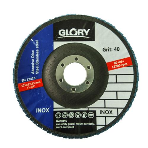 Ламелен диск за шлайфане на неръждаема стомана ф115х22 Т29 Glory