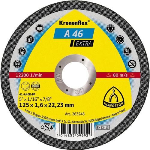 Диск за рязане на метал и неръждаема стомана A46EX Klingspor