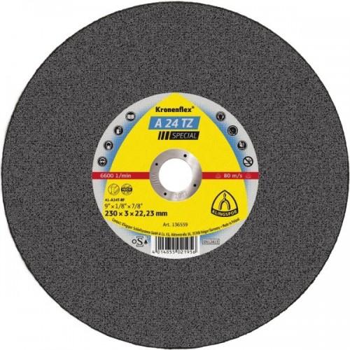 Диск за рязане на неръждаема стомана A24 TZ ф230х3х23 Klingspor