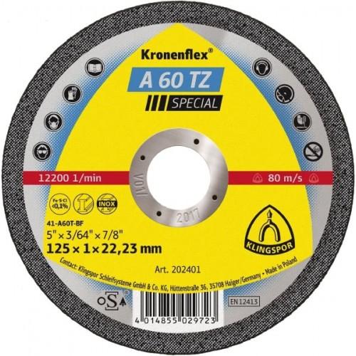 Диск за рязане на неръждаема стомана A60 TZ Klingspor