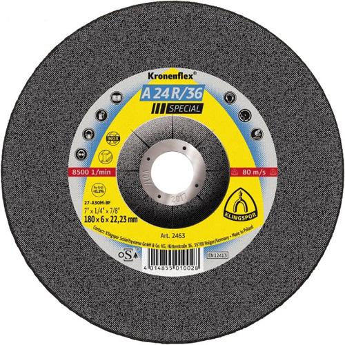 Диск за шлайфане на неръждаема стомана и стомана A24 R/36 Klingspor
