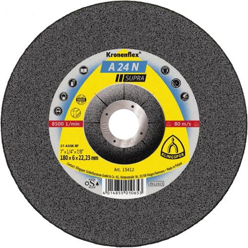 Диск за шлайфане на неръждаема стомана и стомана A24 N Klingspor
